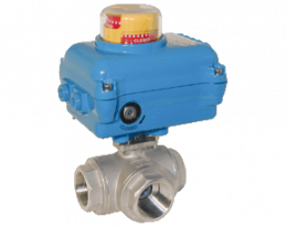z1-kua-pd.png: Stainless steel ball valve with Electric Actuator KUA-PD
