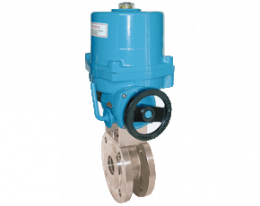 z1-kua-vk.png: Stainless steel-Flange Ball Valve with Electric Actuator KUA-VK