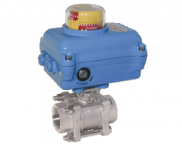 z1-kua-za.png: Stainless steel-Ball Valve with Electric Actuator KUA-ZA